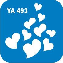 "Трафарет для бодиарта ""Любовь"" код № YA 493"