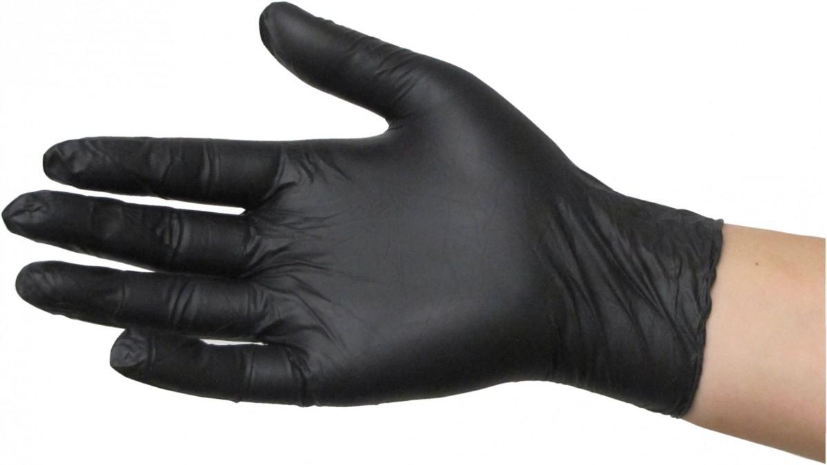 Перчатки  нитриловые, Nitrylex ЧЕРНЫЕ BLACK без пудры, 100 шт
