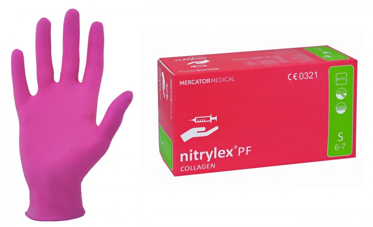 Перчатки  нитриловые, неопудренные, РОЗОВЫЕ, NITRYLEX 100 шт, XS