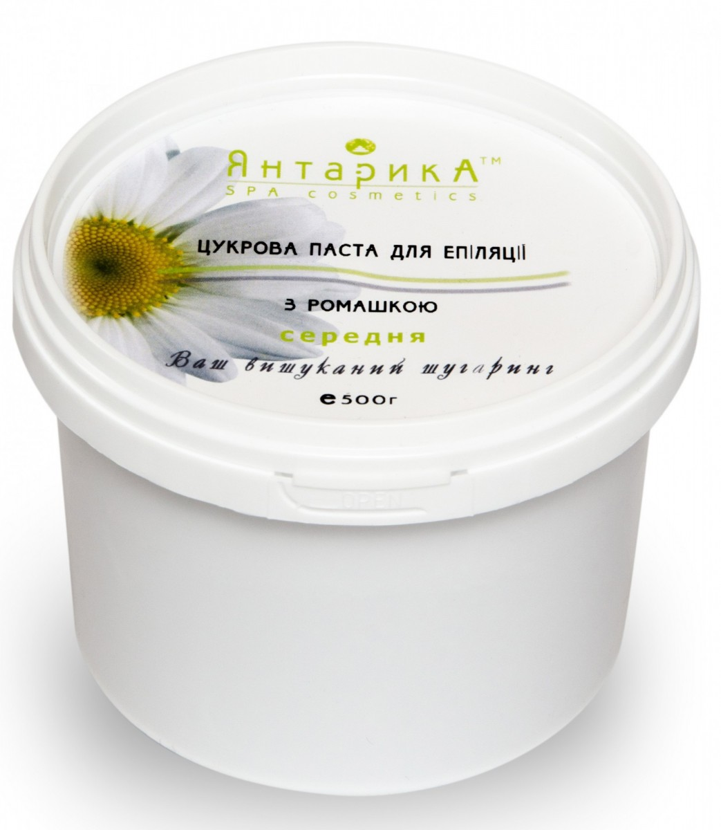 Cахарная паста для шугаринга ТМ ЯнтарикА Средняя с ромашкой 500 грамм