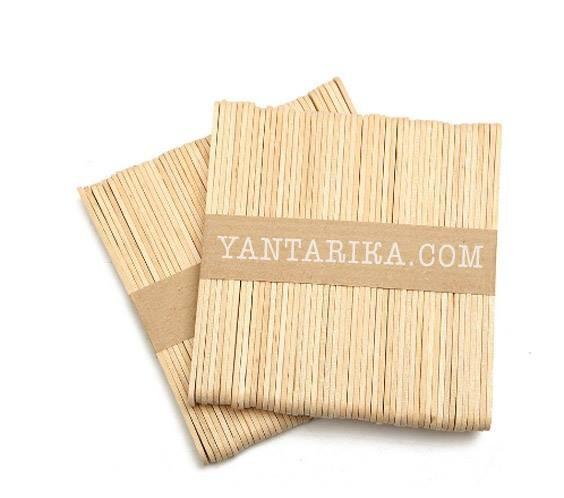 Шпатель  одноразовый деревянный, широкий (упаковка = 50шт)